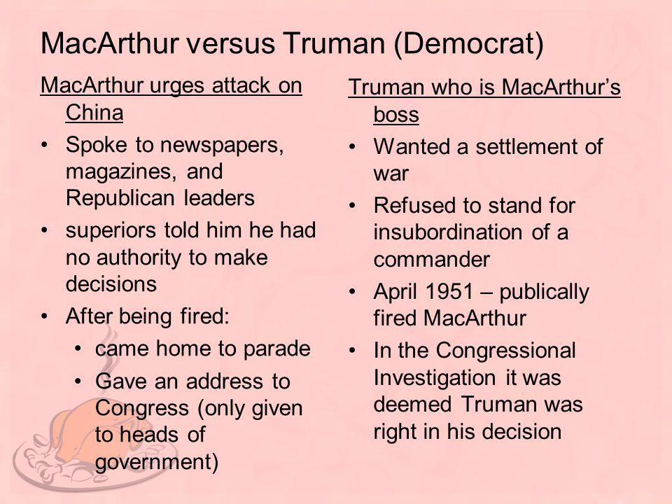 MacArthur versus Truman (Democrat)
