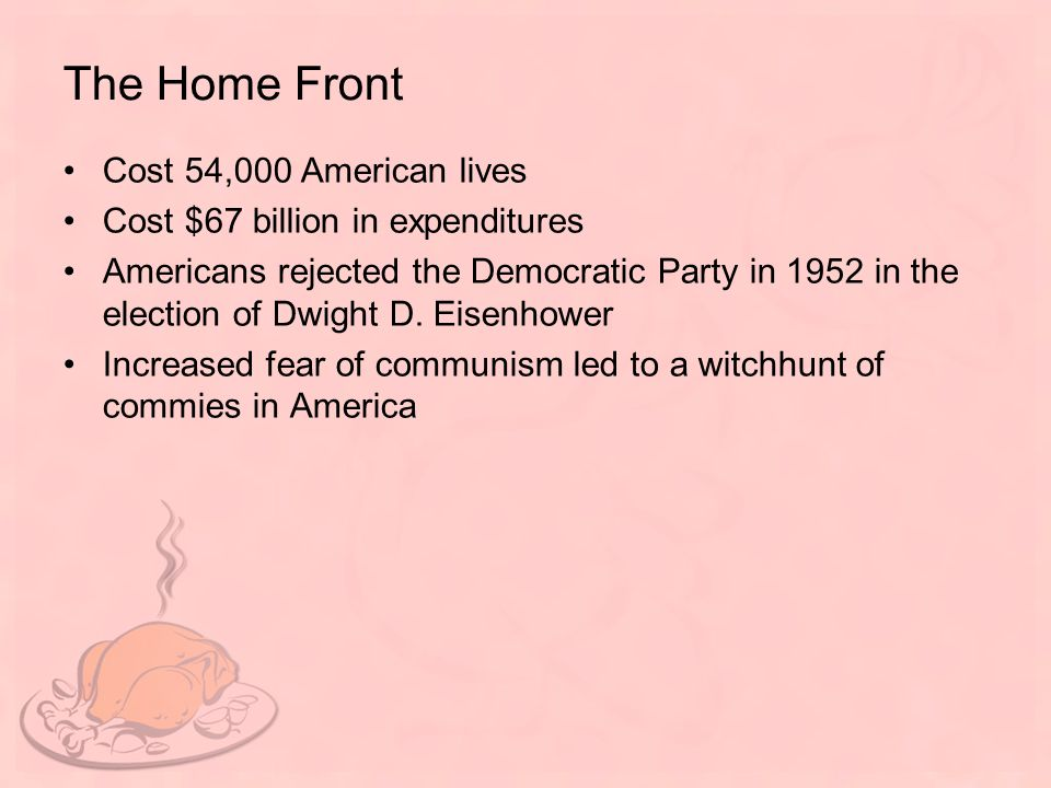 The Home Front Cost 54,000 American lives
