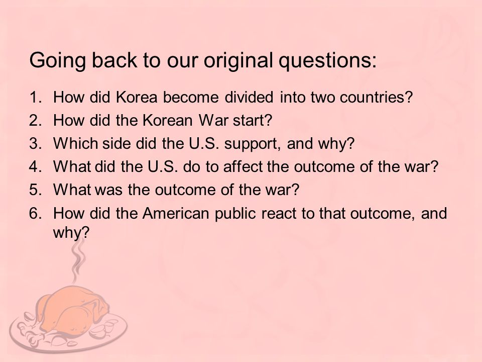 Going back to our original questions:
