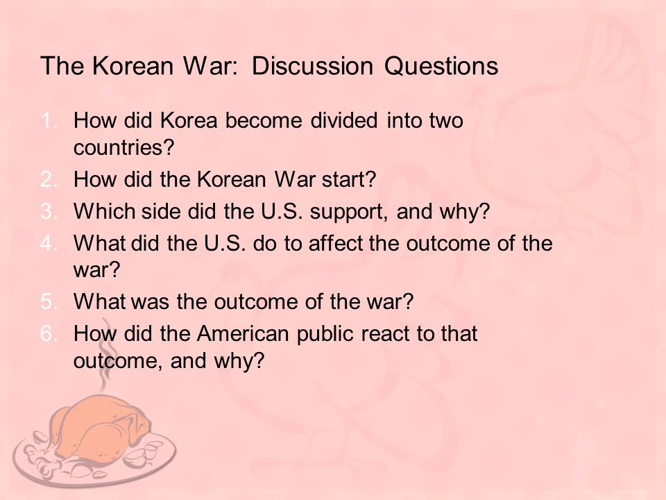 The Korean War: Discussion Questions