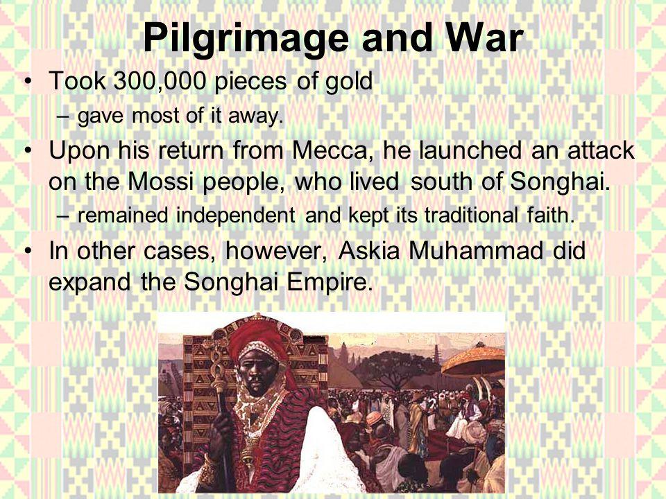 Pilgrimage and War Took 300,000 pieces of gold