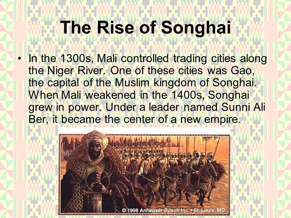 The Rise of Songhai