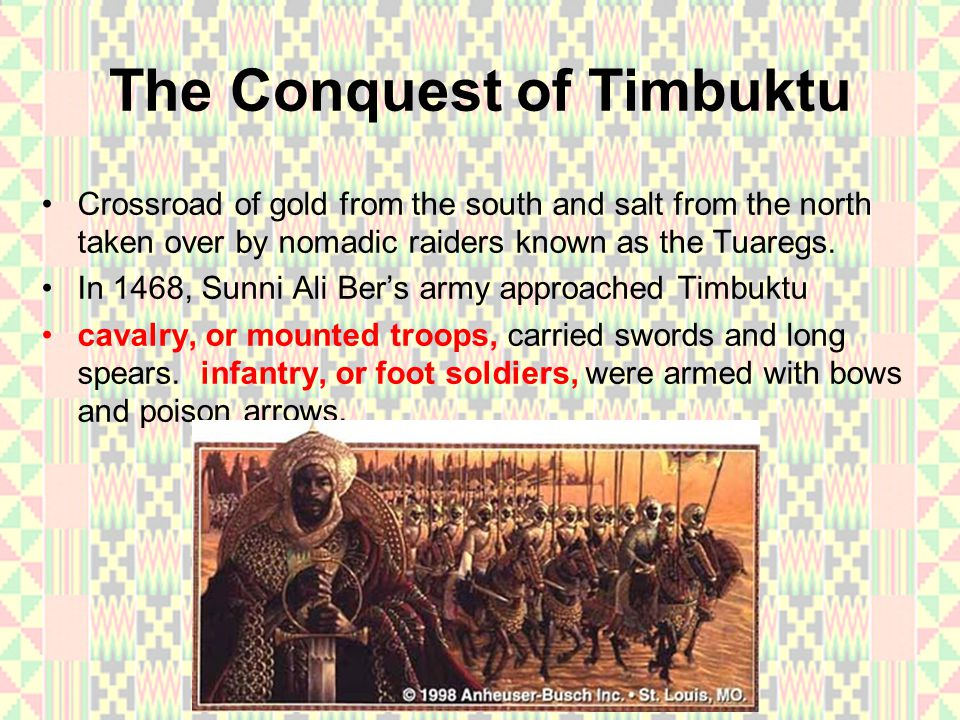 The Conquest of Timbuktu