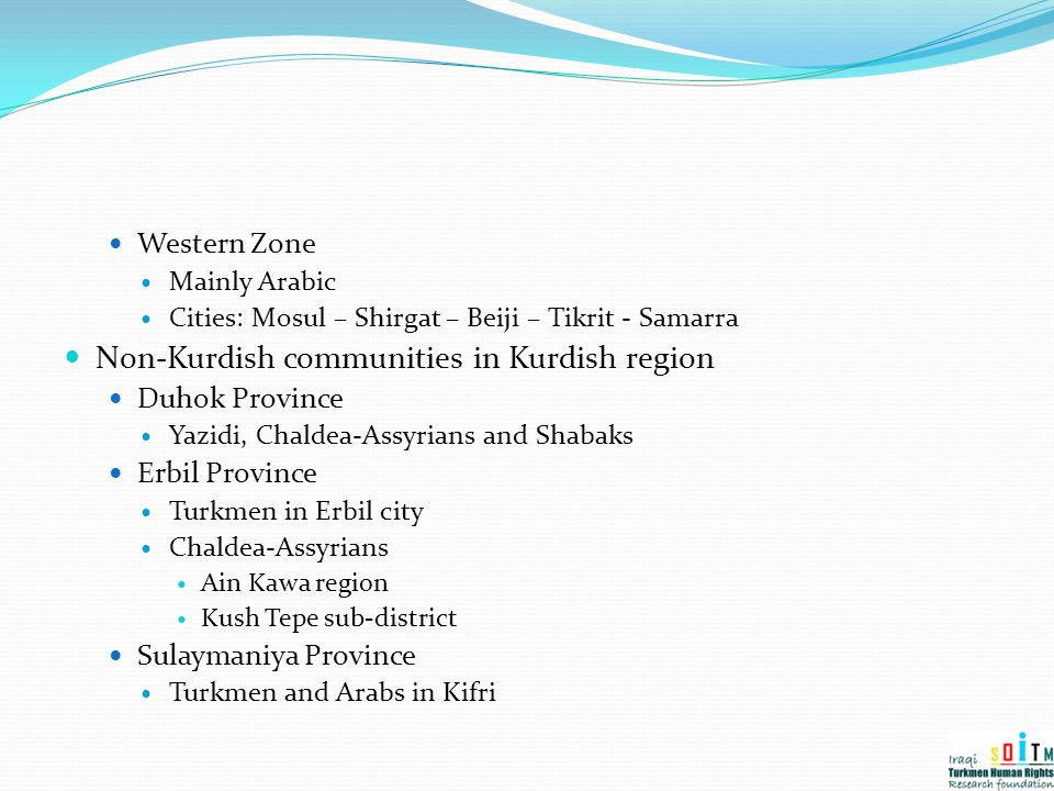 Non-Kurdish communities in Kurdish region