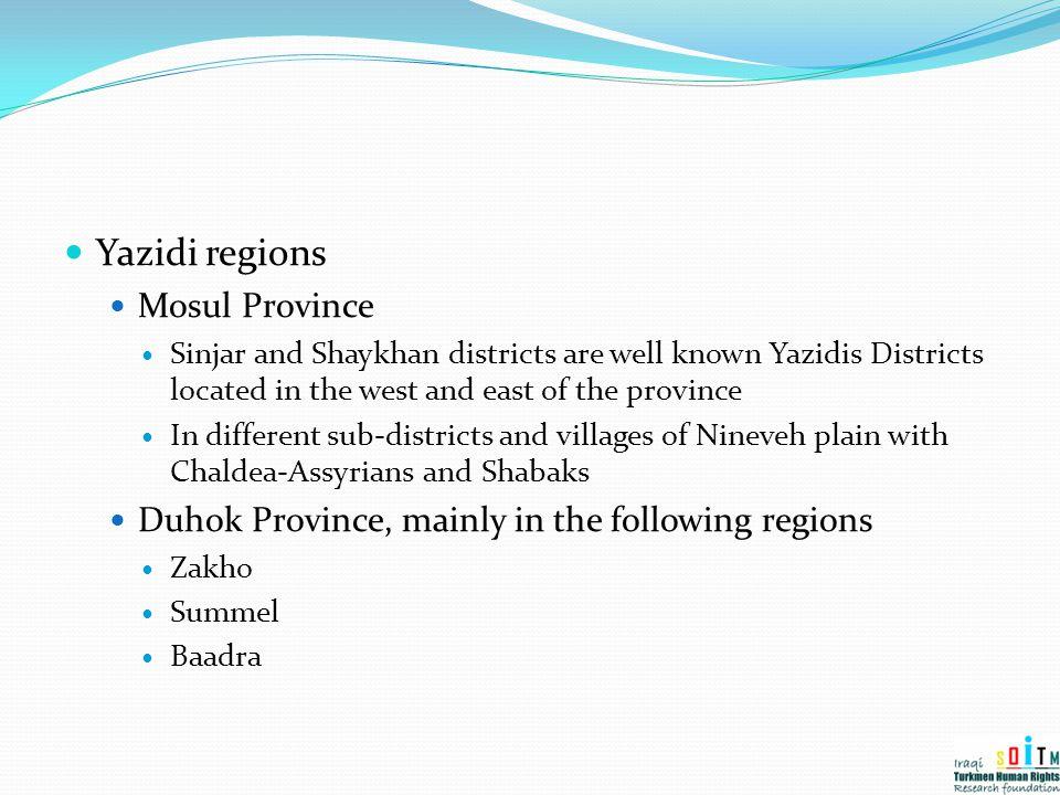 Yazidi regions Mosul Province