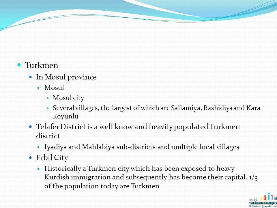 Turkmen In Mosul province