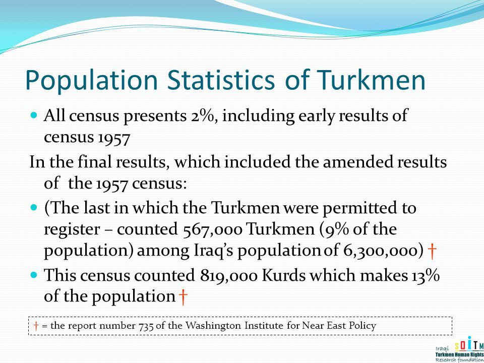 Population Statistics of Turkmen