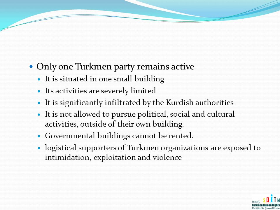 Only one Turkmen party remains active