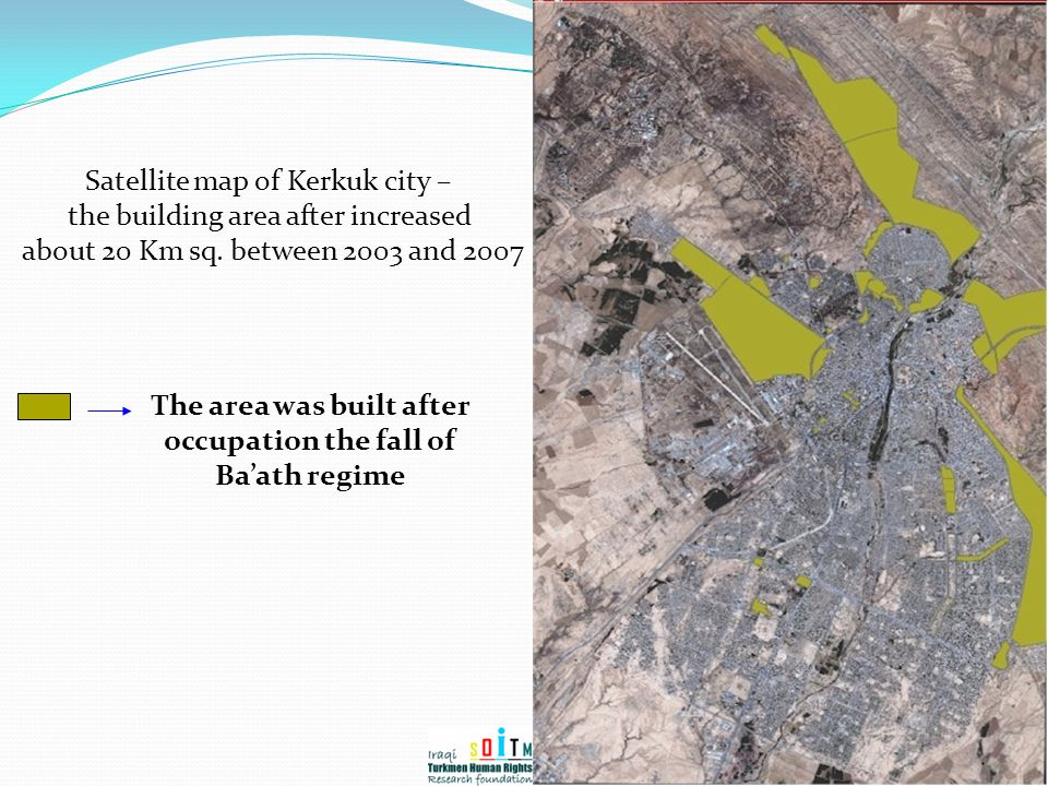The area was built after occupation the fall of Ba'ath regime