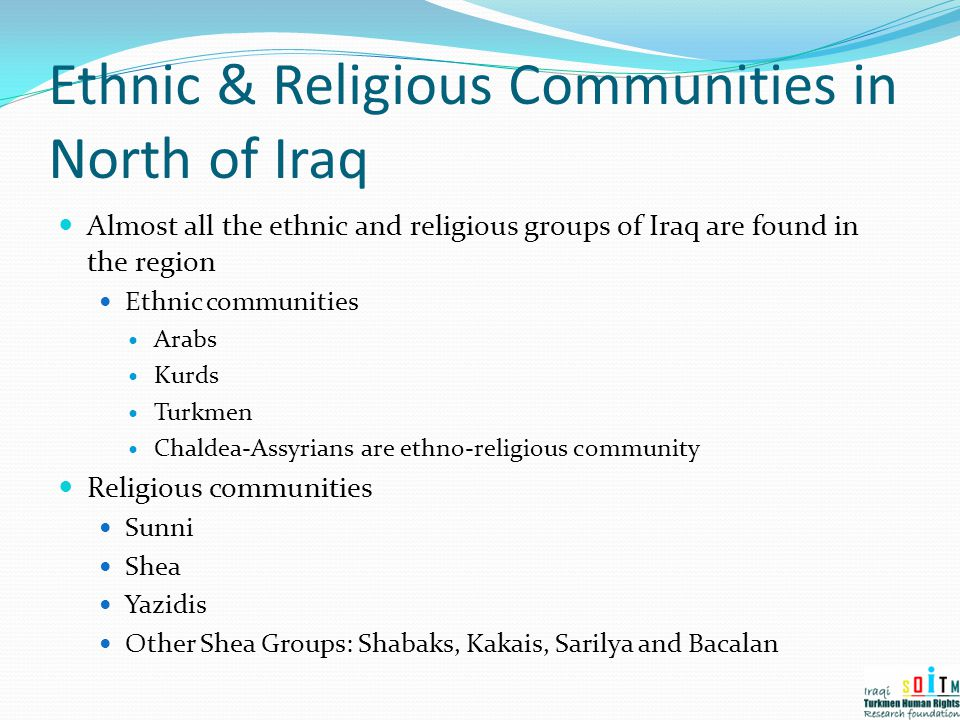 Ethnic & Religious Communities in North of Iraq