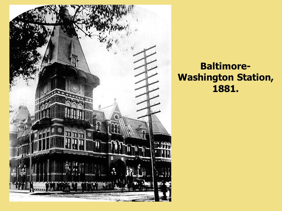 Baltimore-Washington Station, 1881.