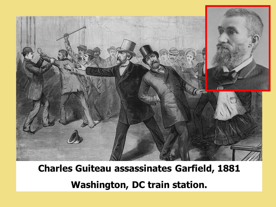 Charles Guiteau assassinates Garfield, 1881