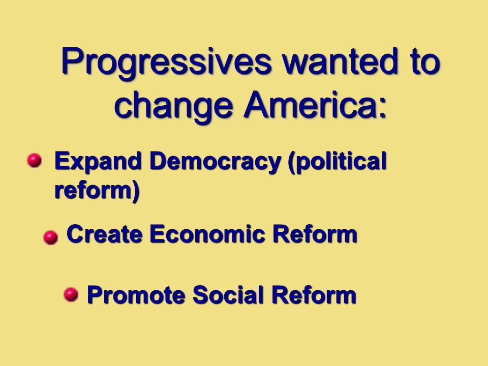 Progressives wanted to change America: