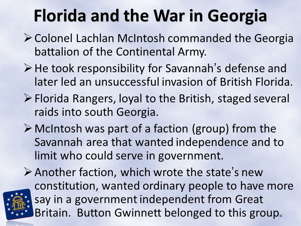 Florida and the War in Georgia