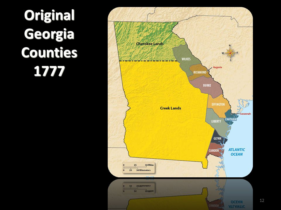 Original Georgia Counties 1777