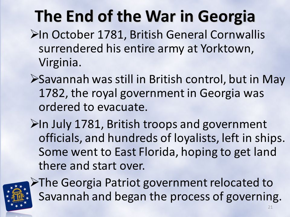 The End of the War in Georgia