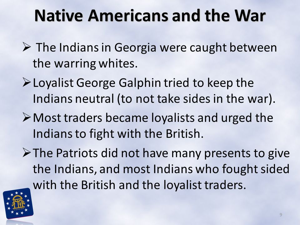 Native Americans and the War