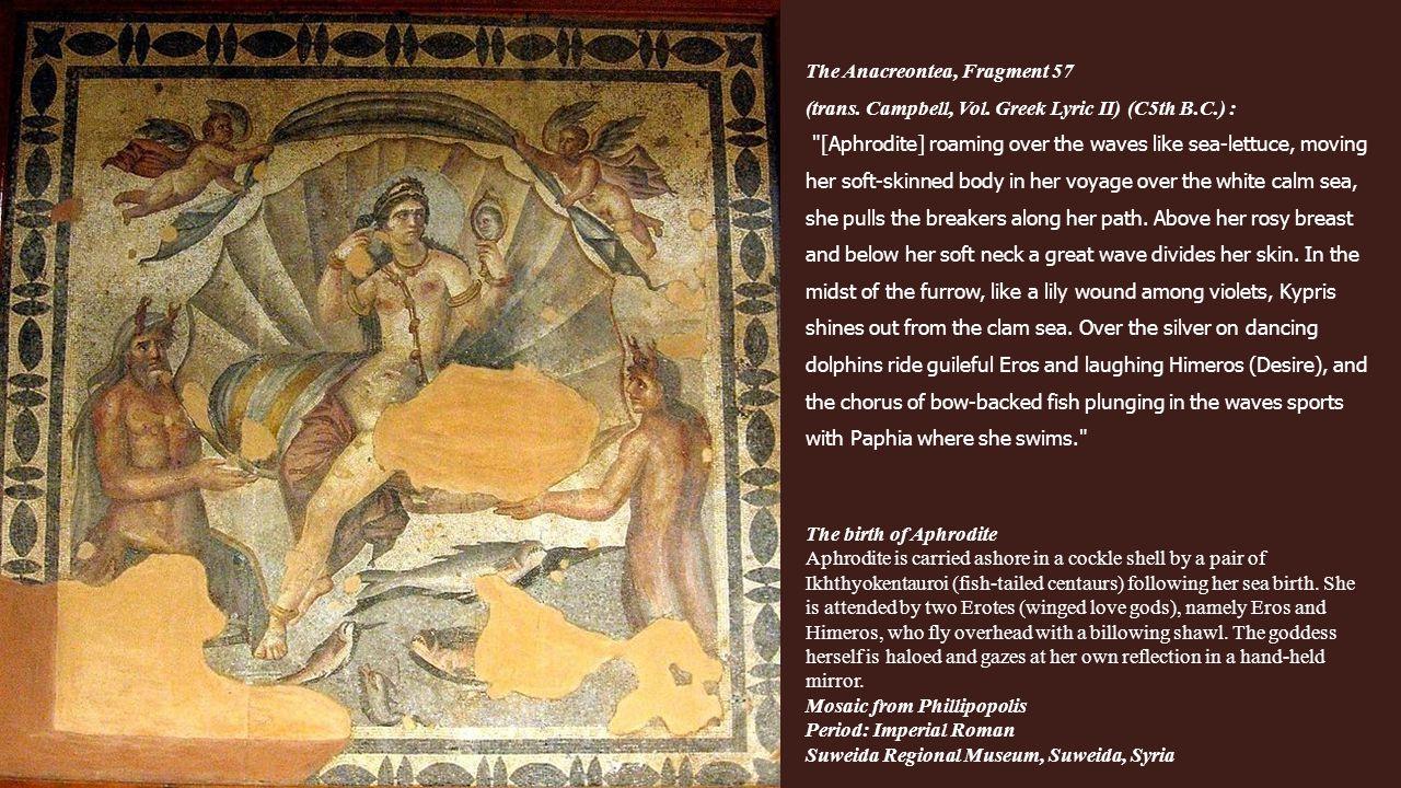 The Anacreontea, Fragment 57