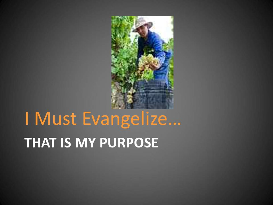 I Must Evangelize… That is MY Purpose