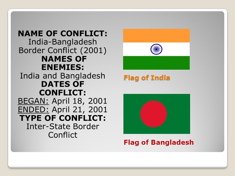 NAME OF CONFLICT: DATES OF CONFLICT: TYPE OF CONFLICT: