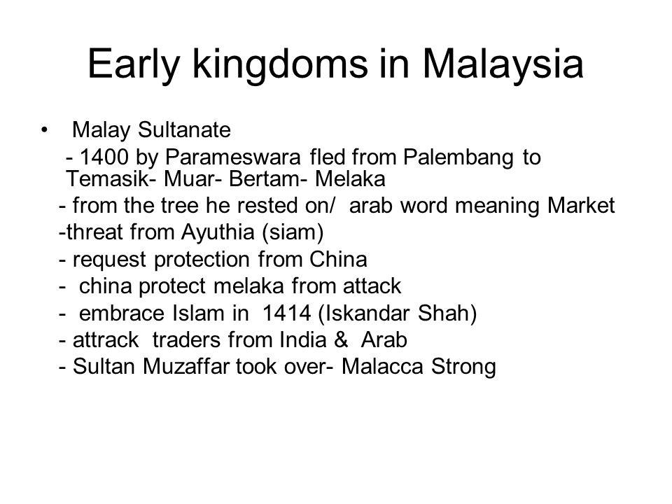 Early kingdoms in Malaysia