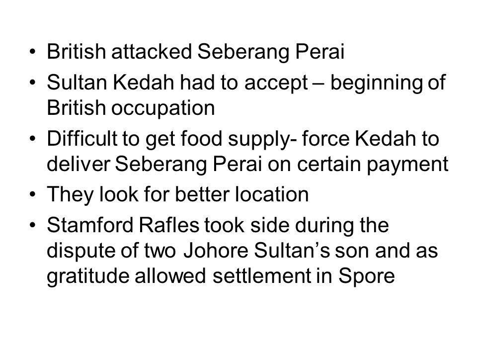 British attacked Seberang Perai