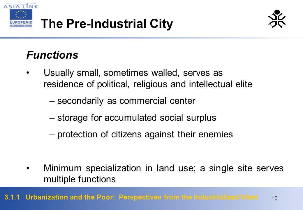 The Pre-Industrial City