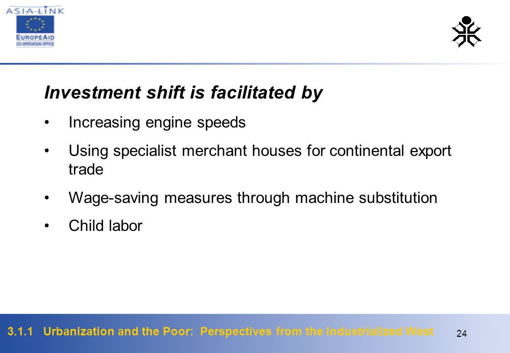 Investment shift is facilitated by