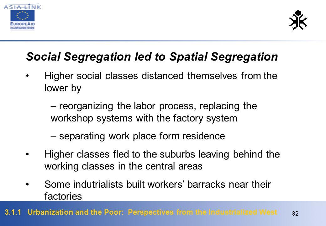 Social Segregation led to Spatial Segregation