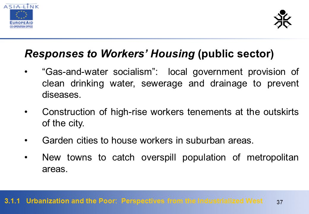 Responses to Workers' Housing (public sector)