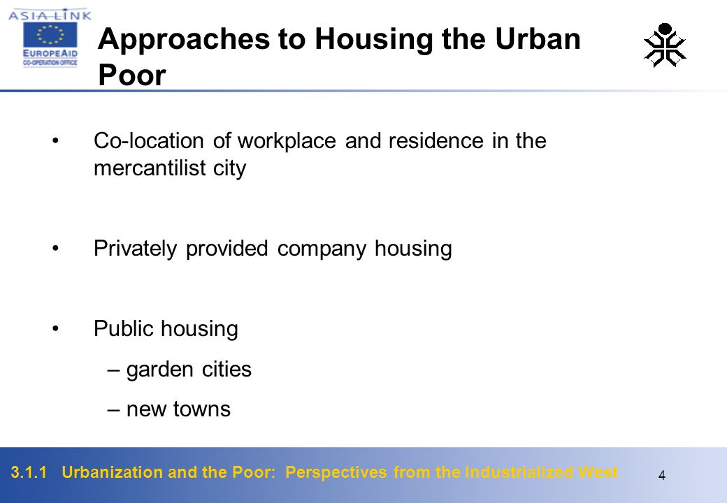 Approaches to Housing the Urban Poor