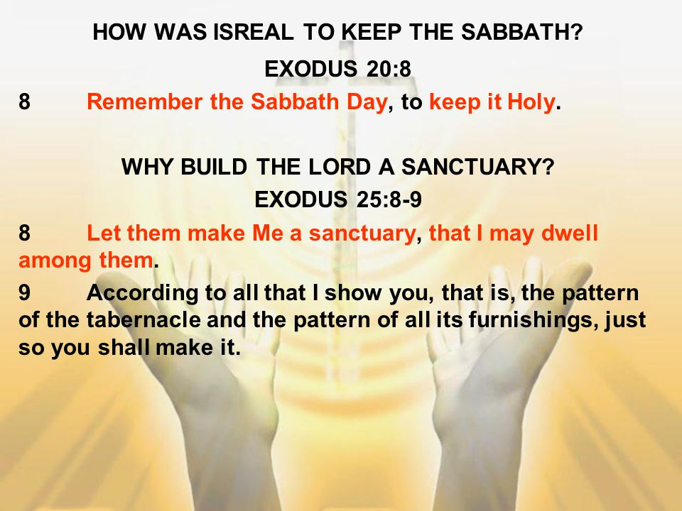 HOW WAS ISREAL TO KEEP THE SABBATH