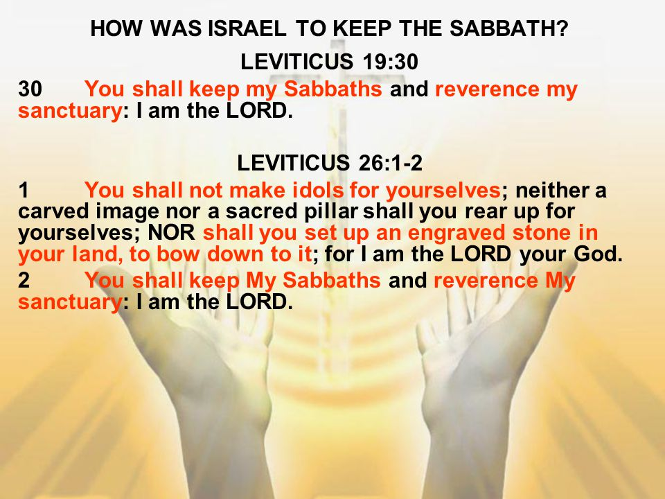 HOW WAS ISRAEL TO KEEP THE SABBATH