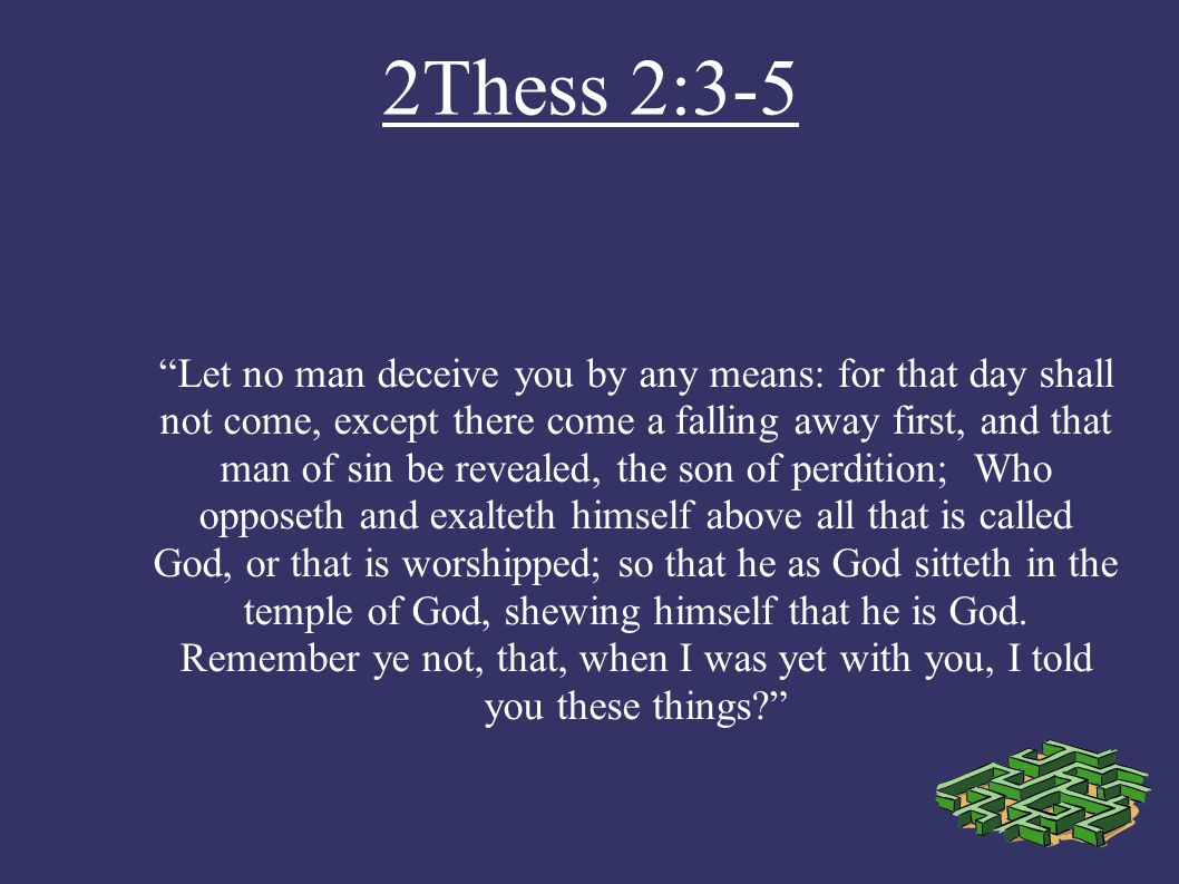 2Thess 2:3-5
