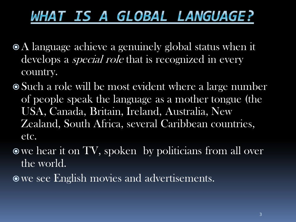 What is a global language