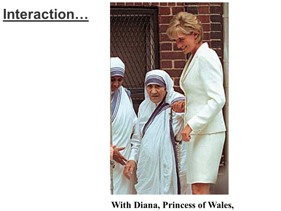 Interaction… With Diana, Princess of Wales,