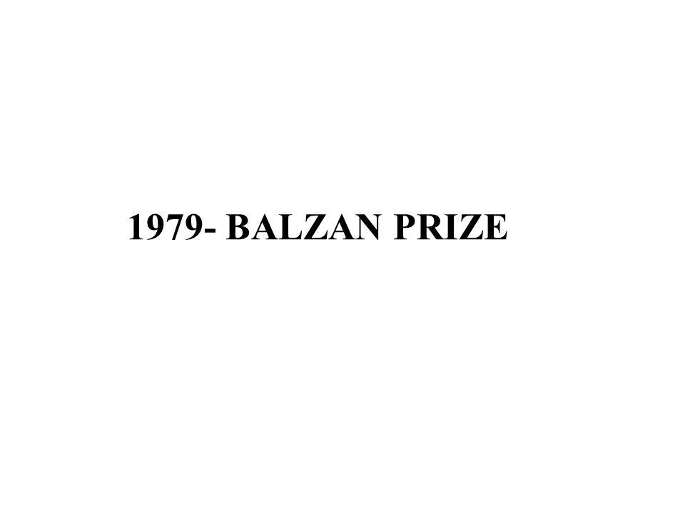 1979- BALZAN PRIZE