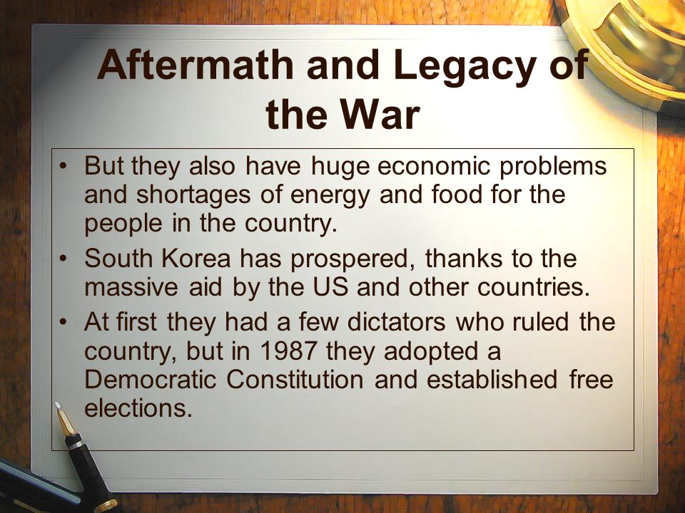 Aftermath and Legacy of the War