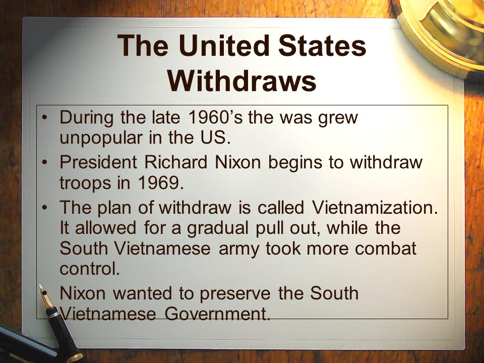 The United States Withdraws