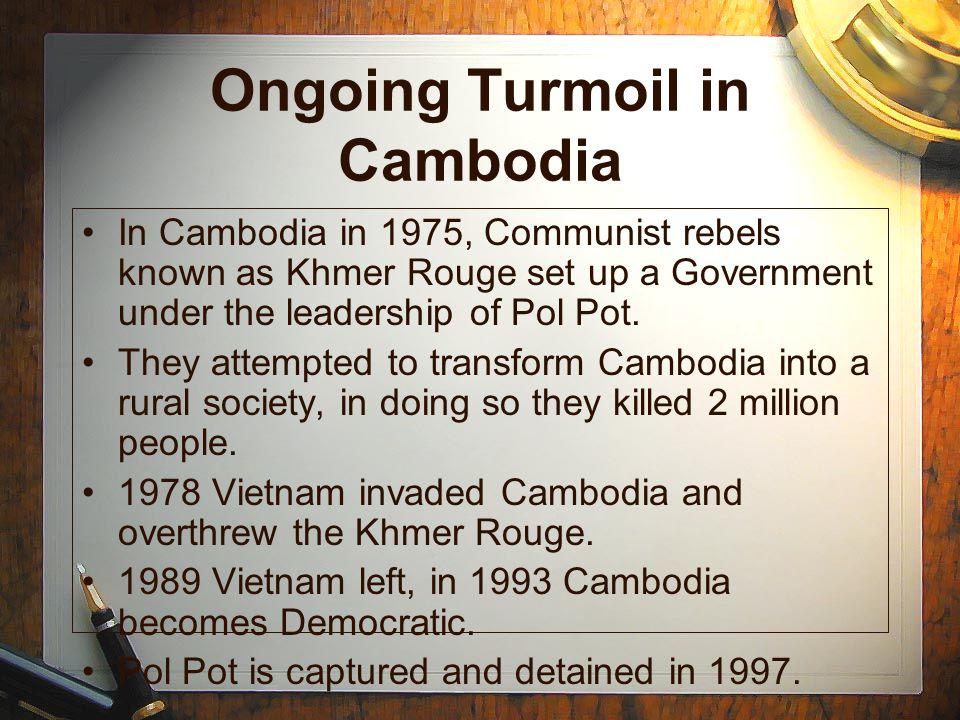 Ongoing Turmoil in Cambodia