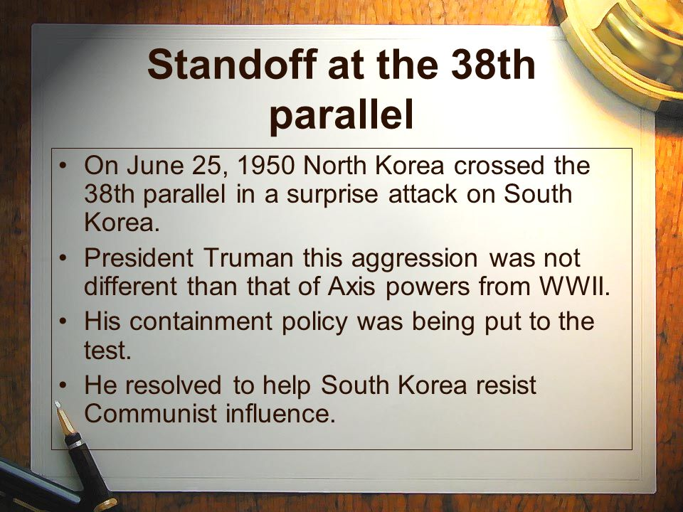 Standoff at the 38th parallel