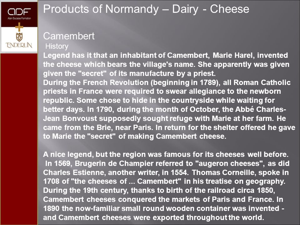 Products of Normandy – Dairy - Cheese