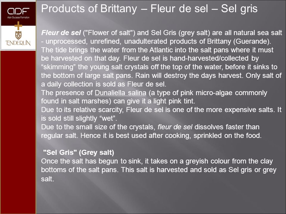 Products of Brittany – Fleur de sel – Sel gris