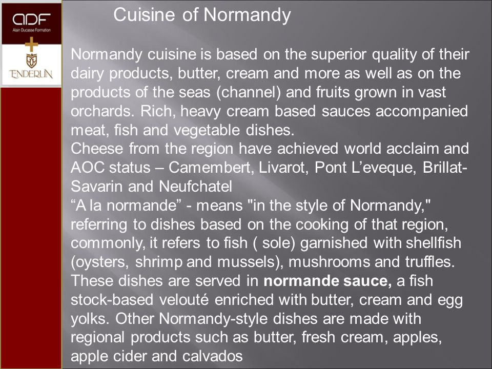 Cuisine of Normandy