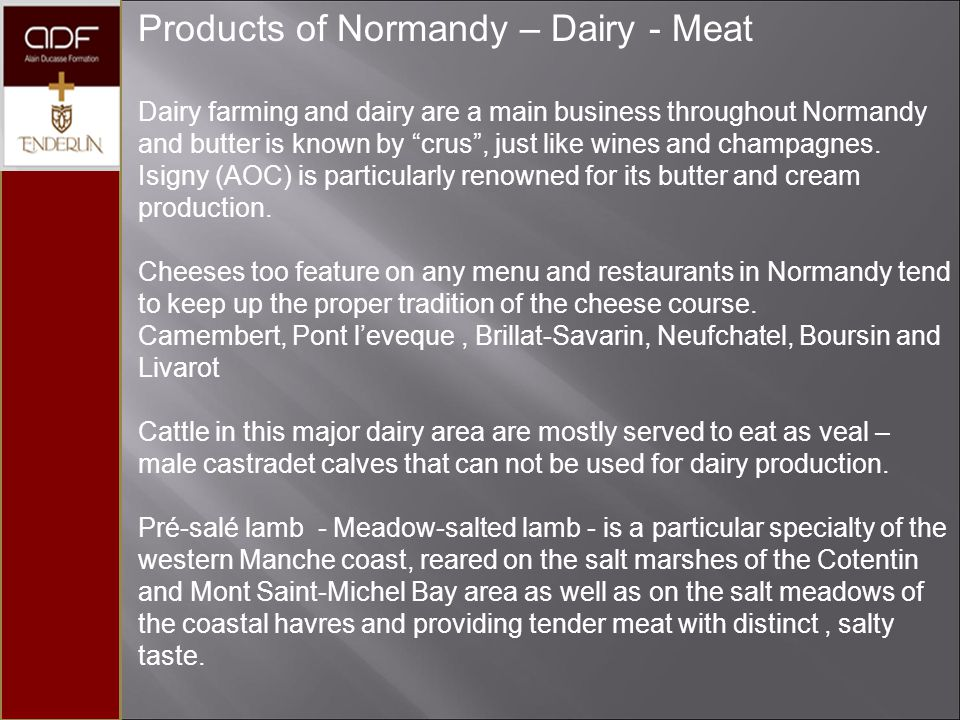 Products of Normandy – Dairy - Meat