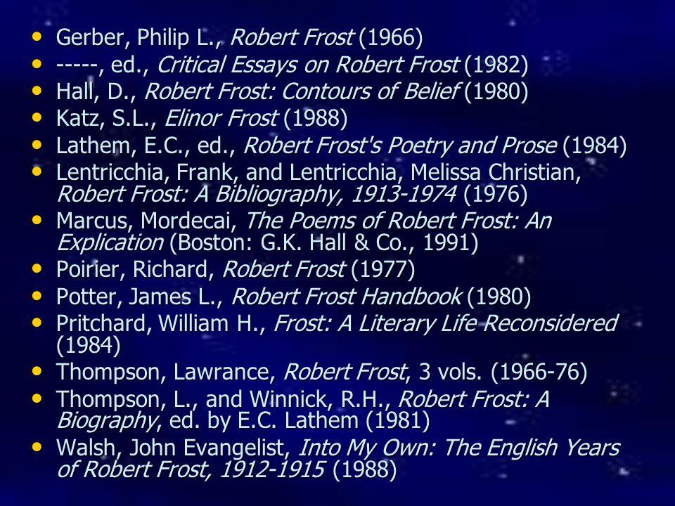 Gerber, Philip L., Robert Frost (1966)