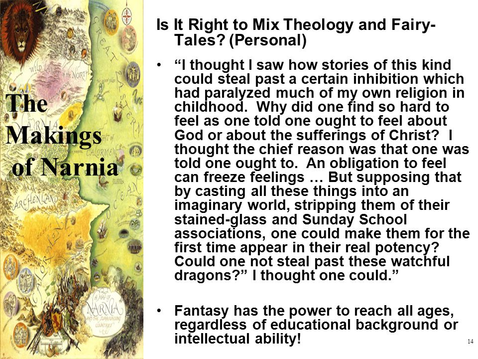 Is It Right to Mix Theology and Fairy-Tales (Personal)