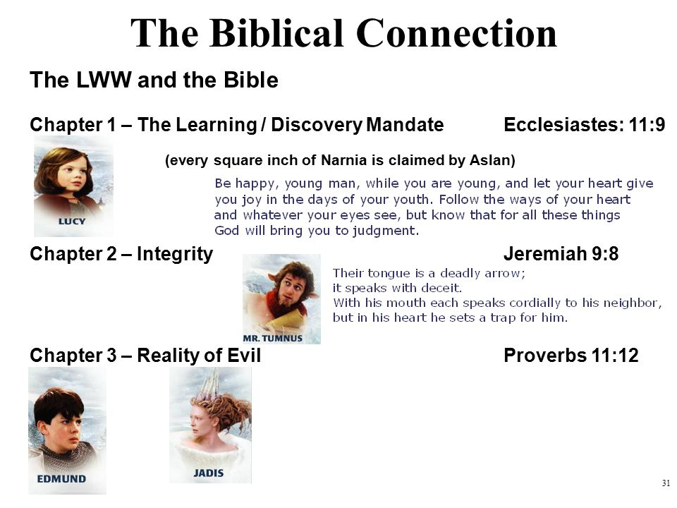 The Biblical Connection