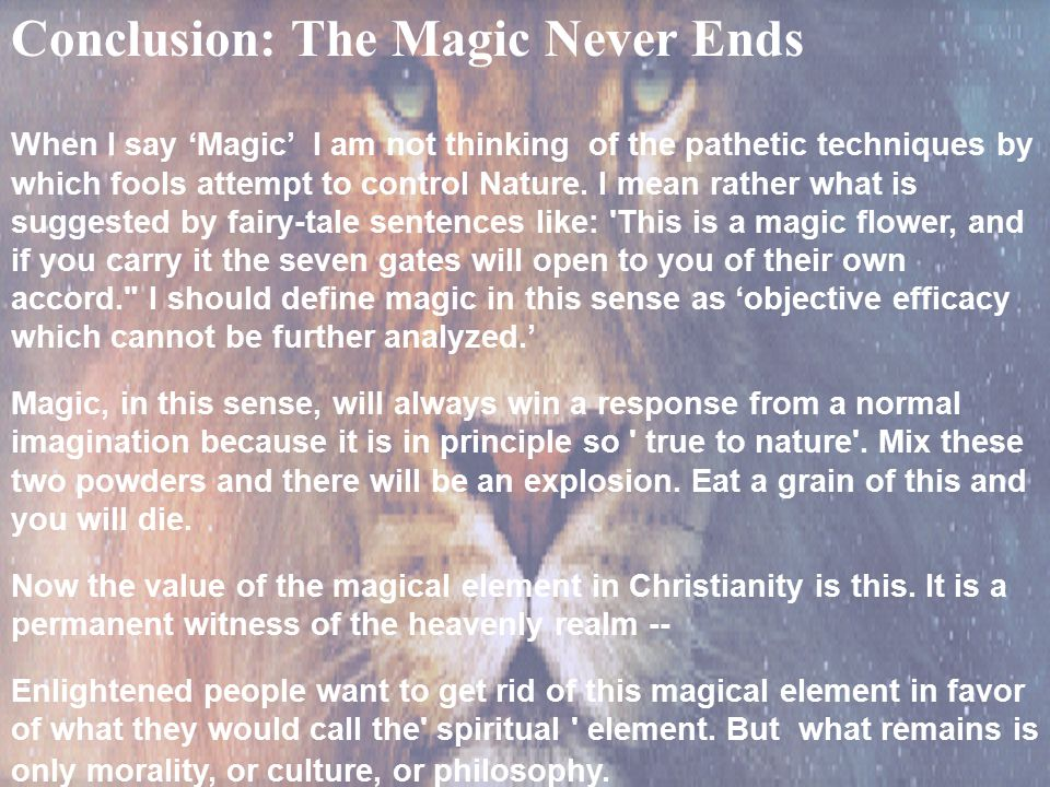 Conclusion: The Magic Never Ends