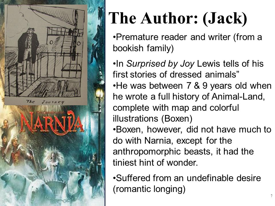 The Author: (Jack) Premature reader and writer (from a bookish family)